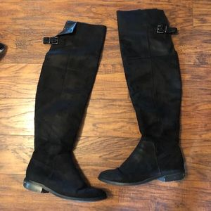 Express size 8 black suede boot;